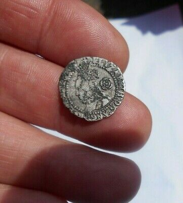 elizabeth 1 1582 threepence hammered silver coin