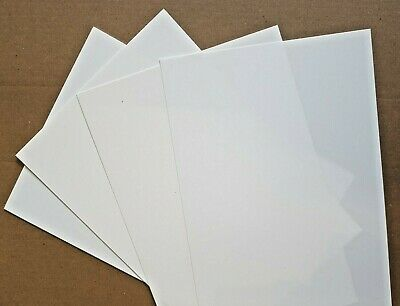 Styrene Sheet, Card.WHITE. Single Sheet 330mm x 228mm. Please select thickness