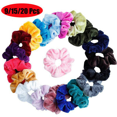 Vintage Elastic Hair Ties  Velvet Scrunchie  Hair Rubber Bands Hair Scrunchie
