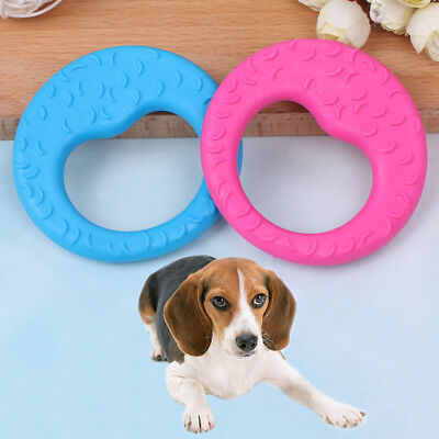 Pet cat dog puppy rubber dental teeth chew circle play FRaining fetch fun toy FR