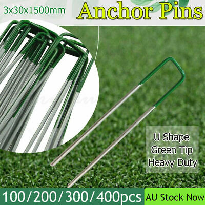 100-200pcs Lawn Anchor U Pins Tent Pegs Heavy Duty Mat Fastening Turf Pins Grass