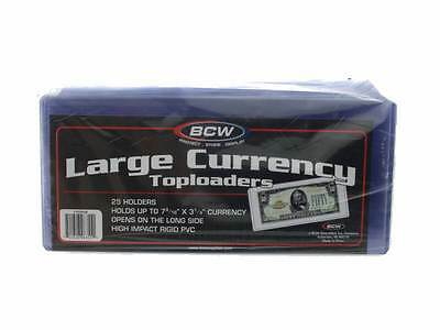 BCW - 7.5 x 3.5, Large Bill Currency Holder, Toploaders
