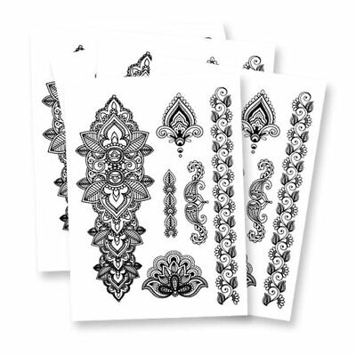 Mandala Fake tattoo's | 5 temporary tattoo sheets