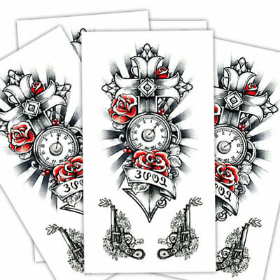 Love cross fake tattoo's | 5 temporary tattoo sheets