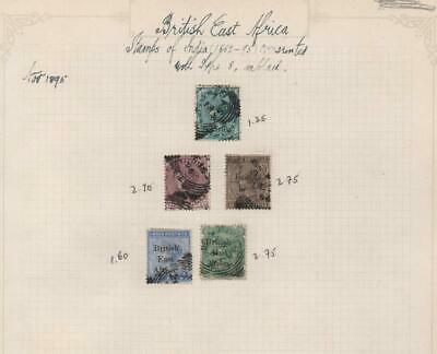 BRITISH EAST AFRICA: 1895 Overprints- Ex-Old Time Collection - Part Page (24848)
