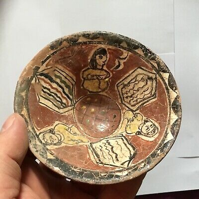 ANCIENT GANDHARA/ISLAMIC CERAMIC GLAZED PICTORIAL BOWL C2nd /th Cent AD.