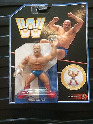 WWE Iron Shiek RETRO APP MATTEL SERIES 8 WRESTLING ACTION FIGURE WWF HASBRO