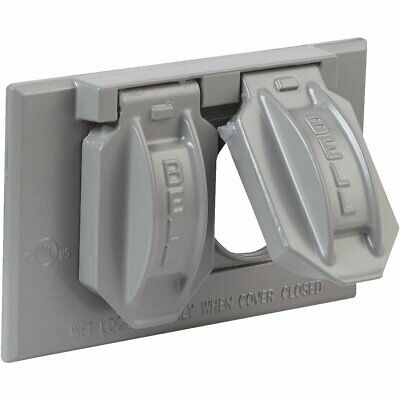 Bell Horizontal Mount Weatherproof Outdoor Outlet Cover - 5180-0/518697