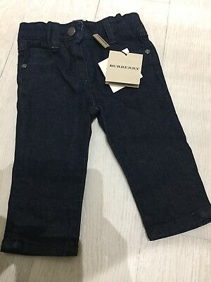 BURBERRY - BABY CLASSIC STONE WASH DENIM JEANS -NAVY - 6 Months  NEW /TAGS