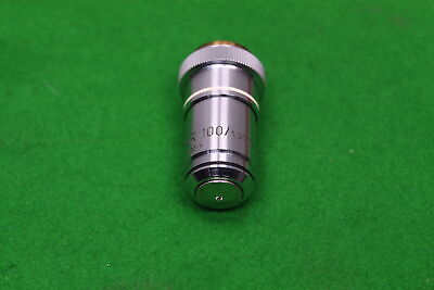 Carl Zeiss Microscope Objective Neofluar 100/1.30 Oel Oil 160/- in Case