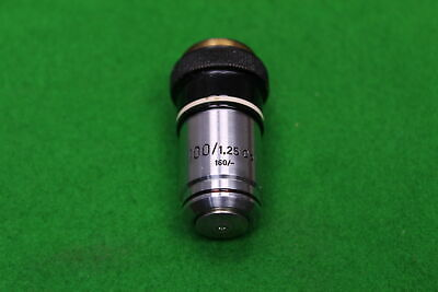 Carl Zeiss Microscope Objective 100/1.25 Oel Oil 160/- in Case