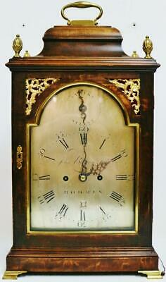 Original Antique English Twin Fusee Verge 8 Day Bracket Clock John Belling C1790