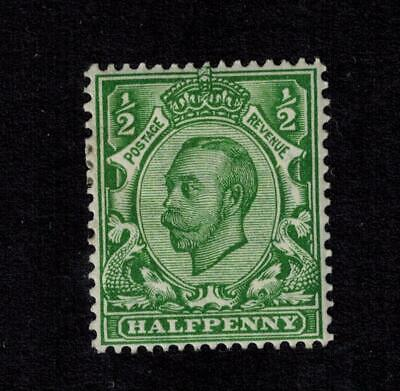 KGV GEORGE V DOWNEY 1/2d  YELLOW GREEN imperial crown wmk SG 340 MM ^^