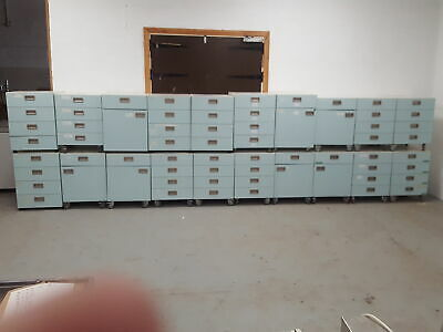 Large Job Lot 20 Lab Cupboards 15x Wheels, 5x Without wheels Laboratory Cabinets