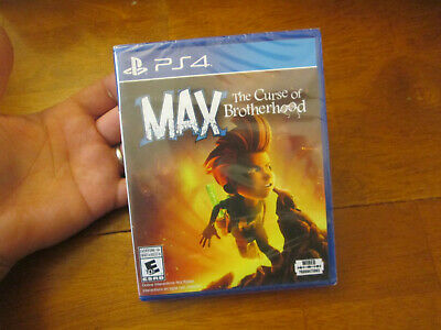 Max: The Curse of Brotherhood PS4  Sony NEW FACTORY SEALED Hole Punched UPC