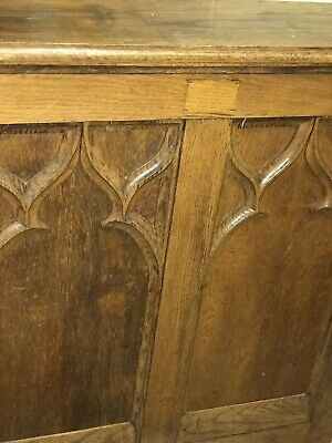 Early 20Th Century Oak Reading Lecturn / Pulpit Lightly Carved Honey  Coloured