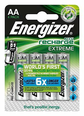 16 x Energizer 2300MAh AA Accu Recharge Extreme Rechargeable Batteries. 50% OFF!