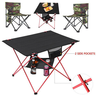 MOVTOTOP Foldable Camping Table Chair Seat Outdoor Picnic Beach Fishing Hiking