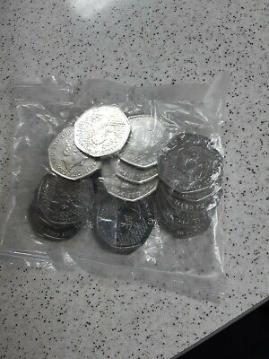 Full sealed bag Sherlock Holmes 50p coins All Uncirculated 20 x coins
