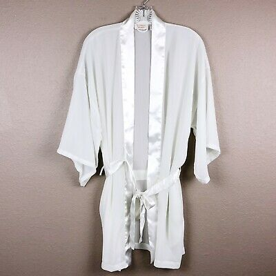 Victoria Secret Gold Label Vintage ivory Cream White robe One Size Fits All
