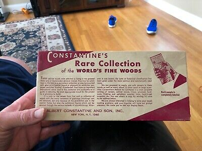 Vintage Constantines Rare Collection of World's Fine Woods Veneer 50 Samples