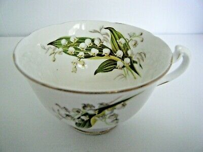 Melba Bone China Tea Cup Lily Of The Valley Design With Gold Trim England