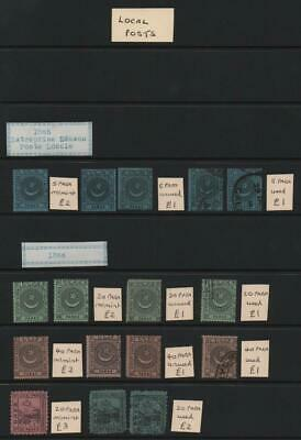 TURKEY: 1865-66 Local Post - Ex-Old Time Collection - Album Page (25240)