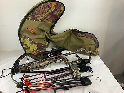 Parker Enforcer Crossbow With Scope, Case And Bolts