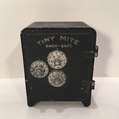 Vintage Tiny Mite Toy Safe Coin Bank From Arrow Specialties Of Los Angeles