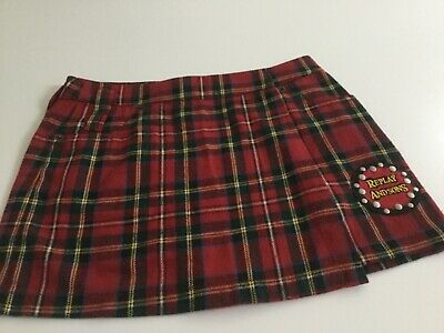 Replay and Sons girls tartan wrap over skirt size IV