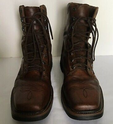 f98ad6d25349b MEN'S JUSTIN WK682 Stampede Steel Toe Lace-Up Work Boots 11.5 EE ...