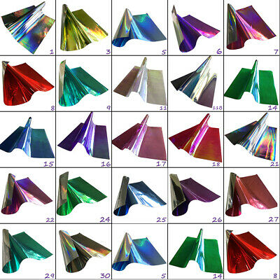 Holographic or TwoTone Smooth Plastic Rainbow Film Hair Bows Craft Code # 201