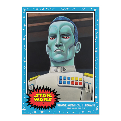 2019 Topps Living Set Star Wars Card #9 Grand Admiral Thrawn Pr 1760 Ship Now