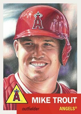2019 Topps Living Set # 200 Mike Trout Free Shipping