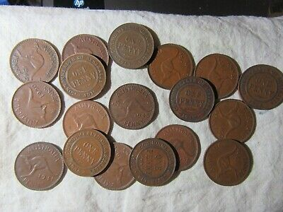 BULK PENNIES  9  DIFFERENT COINS  (1911 - 1964) see note re extra lots