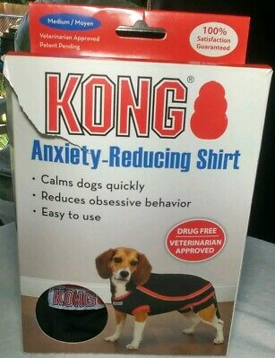KONG Anxiety Reducing Pet Shirt, Black Medium New (Damaged Box) #T75