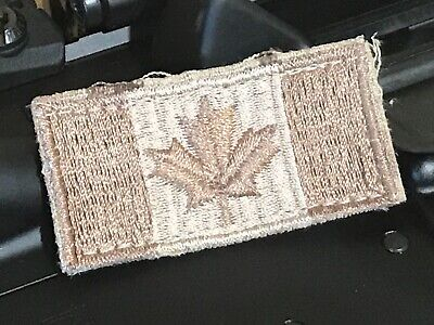Canadian Armed Forces - Hook & Loop Desert Pattern Canadian Flag Patch 2x1 inch