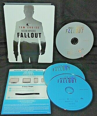 Mission Impossible: Fallout (BluRay+DVD+Digital) Tom Cruise SteelBook MINT