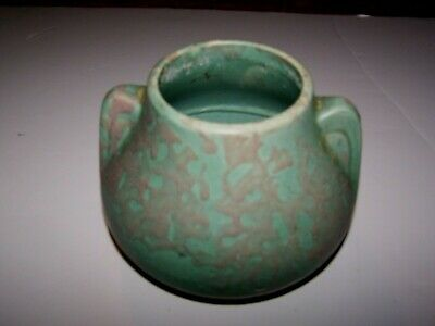 Mission Arts & Crafts Studio Clay Art Pottery Vase Green Mottled Matte Glaze