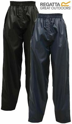 Kids Waterproof Suit Overtrousers 2-12 Years, Regatta Stormbreak Rain Trousers U
