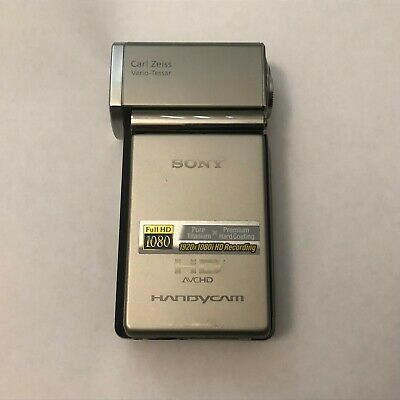 Sony HDR-TG1 4 GB Camcorder - Silver Tested Great Condition