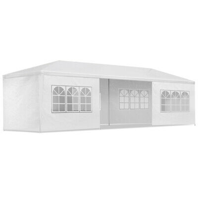 Instahut 3x9m Gazebo Party Wedding Marquee Event Tent Shade Canopy Camping White