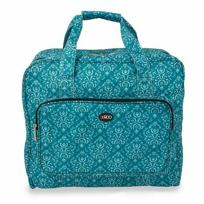 Roo Beauty Sewing Machine Carry Case Bag In Imperial Teal Design