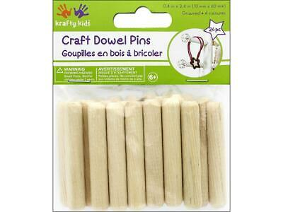Multicraft Mulcw570  Craft Wood Dowel Pins 2 4 Natural 24Pc