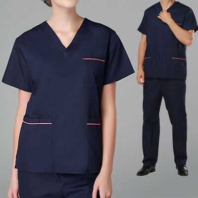 Set Summer Uniform Casual Doctor Scrubs Cosy Clothes V-neck Medical Hospital