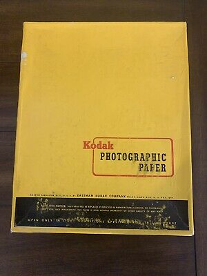 Vintage New Kodak Photograhic Paper 500 Sheets Single Weight F 8x10in Exp 3/63