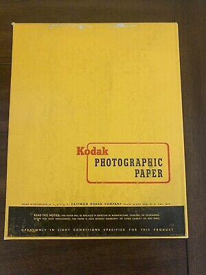 Vintage New Kodak Photograhic Paper 250 Sheets Double Weight N 8x10in Exp 9/63