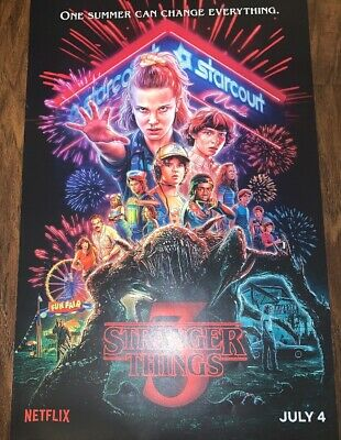 """STRANGER THINGS 3 - 13.5""""X20"""" Poster At Exclusive Event Plus Mystery Gift!"""