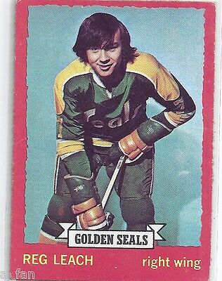 1973 74 OPC O Pee Chee # 84 Reg Leach California Golden Seals Dark Back.       X