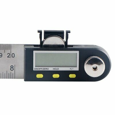 Universal Electronic Stainless Steel Protractor Woodworking LCD Angle Ruler ZG